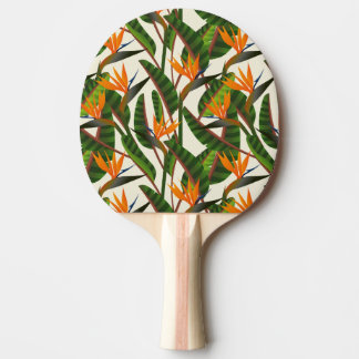 Bird Of Paradise Flower Pattern Ping-Pong Paddle