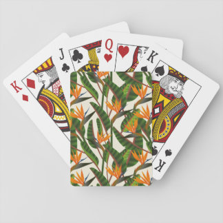 Bird Of Paradise Flower Pattern Playing Cards