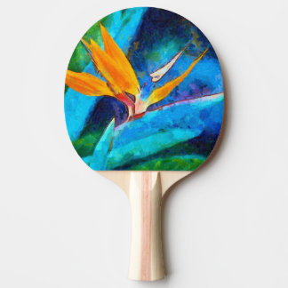 bird of paradise flower ping pong paddle