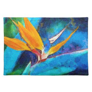 bird of paradise flower placemat