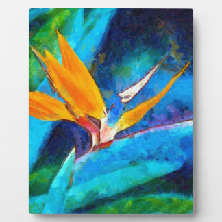 bird of paradise flower plaque
