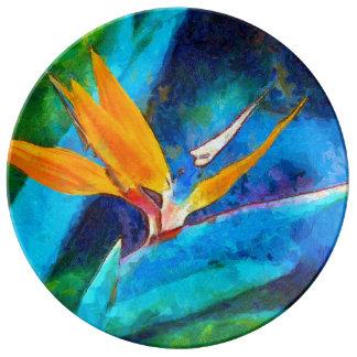 bird of paradise flower plate
