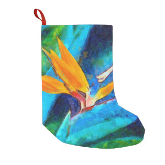 bird of paradise flower small christmas stocking