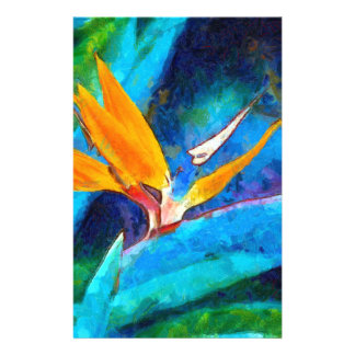 bird of paradise flower stationery