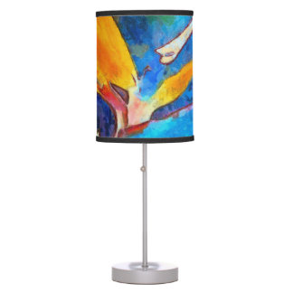 bird of paradise flower table lamp