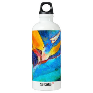 bird of paradise flower water bottle