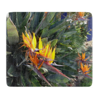 Bird of Paradise Glass Cutting board
