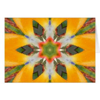 Bird of Paradise Mandala Card