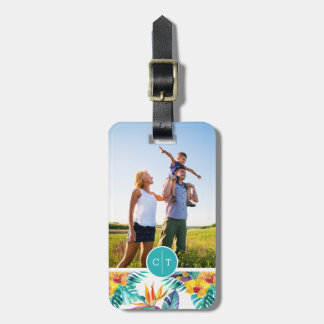 Bird Of Paradise & Orchid | Add Your Photo & Name Bag Tag