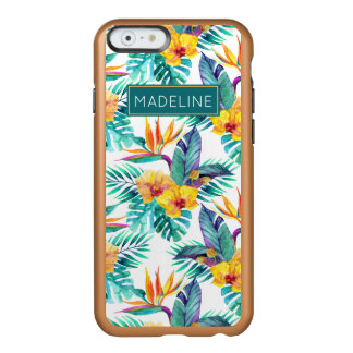Bird Of Paradise & Orchid Pattern | Add Your Name Incipio Feather® Shine iPhone 6 Case