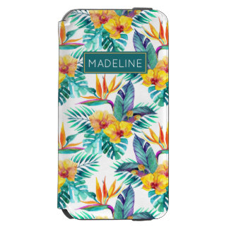 Bird Of Paradise & Orchid Pattern | Add Your Name Incipio Watson™ iPhone 6 Wallet Case