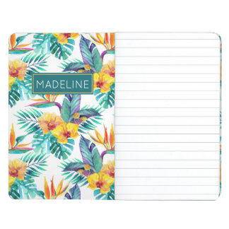 Bird Of Paradise & Orchid Pattern | Add Your Name Journals