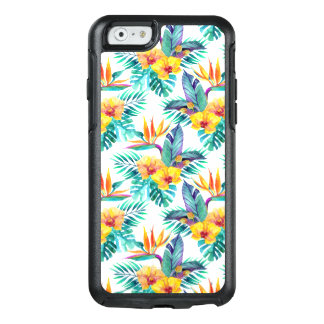 Bird Of Paradise & Orchid Pattern OtterBox iPhone 6/6s Case