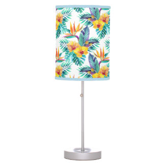Bird Of Paradise & Orchid Pattern Table Lamp