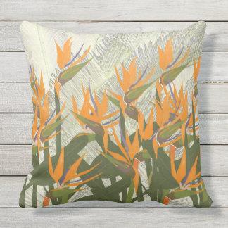 Bird of Paradise Outdoor Throw Pillow