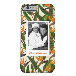 Bird Of Paradise Pattern | Add Your Photo & Name Barely There iPhone 6 Case