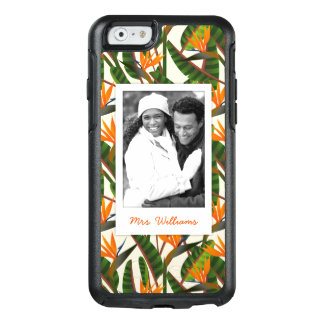 Bird Of Paradise Pattern | Add Your Photo & Name OtterBox iPhone 6/6s Case