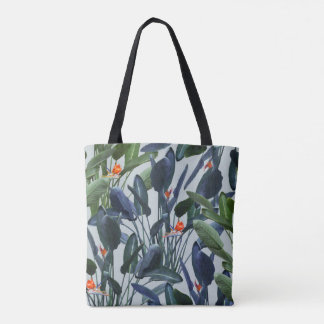 Bird of Paradise Pattern V2 Tote Bag