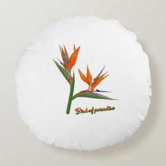 Bird Of Paradise Round Pillow
