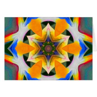 Bird of Paradise Star Mandala Card