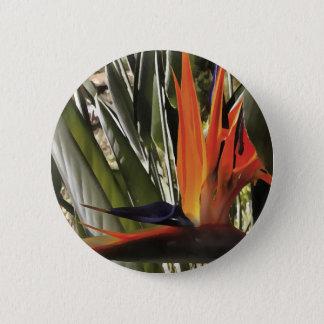 Bird of Paradise (Strelitzia) 2 Inch Round Button
