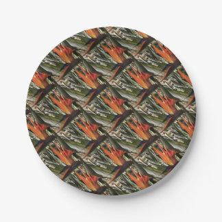 Bird of Paradise (Strelitzia) Paper Plate