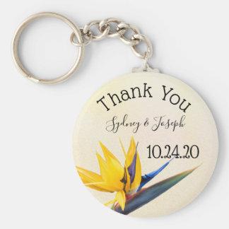 Bird-of-paradise Thank You Key Ring Favor