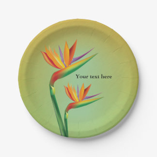 Bird of Paradise Tropical Floral Party Plates