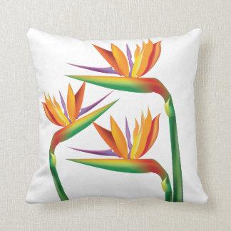 Bird of Paradise Tropical Floral Throw Pillow