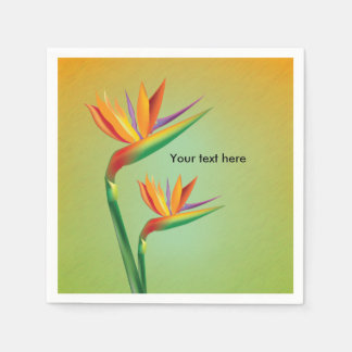 Bird of Paradise Tropical Floral Wedding Napkins Disposable Napkin