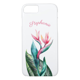 Bird of Paradise Tropical Watercolor iPhone 8/7 Case