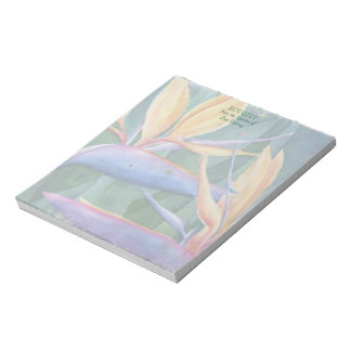 BIRD OF PARADISE WATERCOLOR FLOWER NOTE PAD