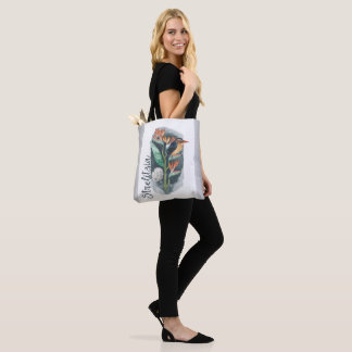 Bird of Paradise watercolor Tote Bag