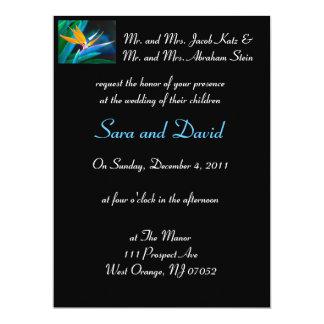 Bird of Paradise Wedding Invitation