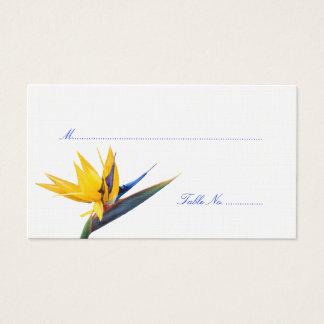 Bird of Paradise Wedding Reception Escort Cards