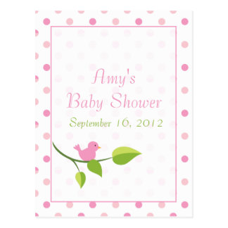 Bird on a branch -baby shower advice cards postcard