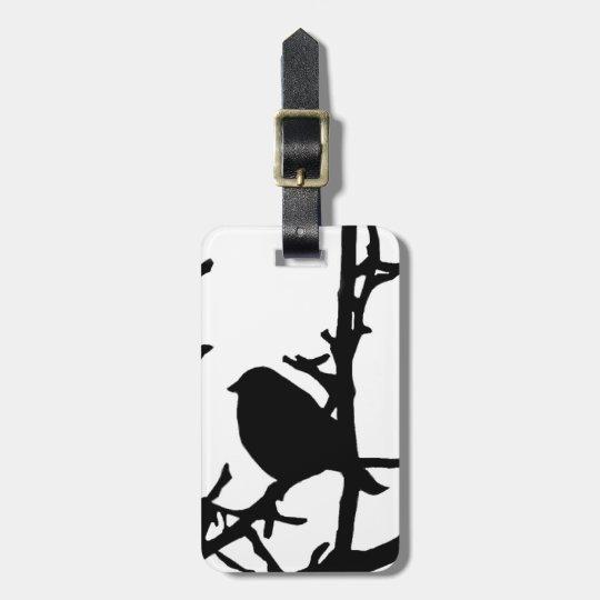 Bird on a Branch Bag Tag