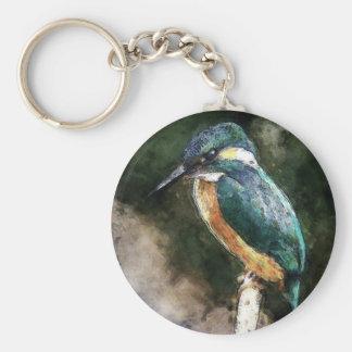 Bird On A Branch Basic Round Button Keychain