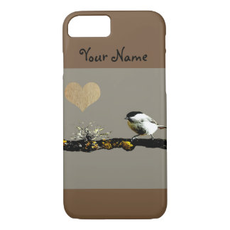 Bird on a branch Heart Iphone Case