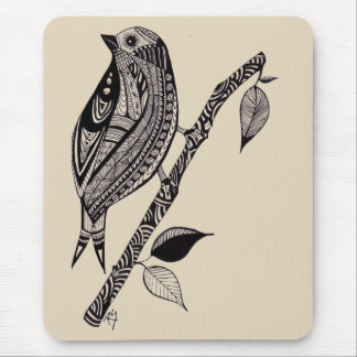Bird on a Branch Mouse Pad