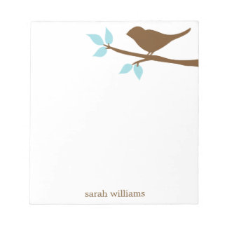 Bird on a Branch Personalized Notepads