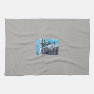 """Bird on a Fence"" Kitchen Towel"