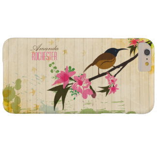 Bird on a floral branch barely there iPhone 6 plus case