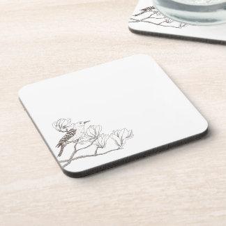 Bird on a Magnolia Branch Sketch | Coaster