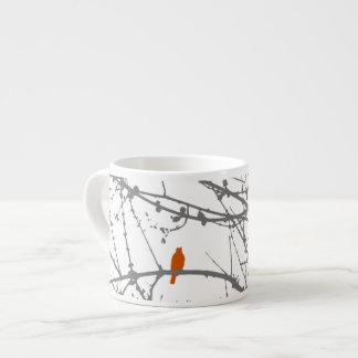 Bird on a Maple Espresso Cup