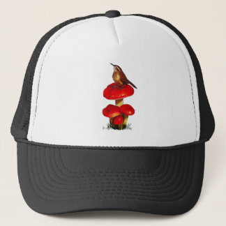 Bird On A Toadstool: Original Pastel Art Trucker Hat