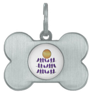 Bird on A Wire Pet ID Tag