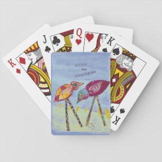 Bird on Birdhouse Playing Cards