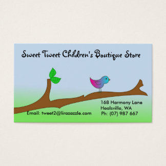 Bird on branch business card