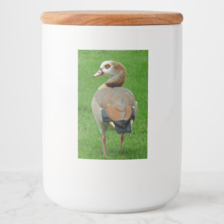 Bird on Grass Food Container Label